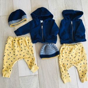Twin boy matching outfit 3-6
